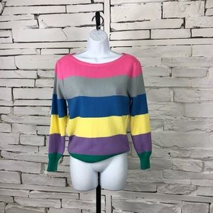 Jordache Vintage Striped Ribbed Sweater 1989
